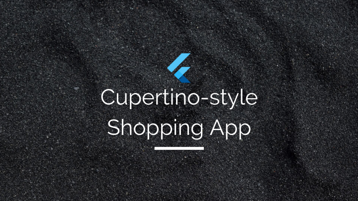 Building an iOS-style Shopping App with minimalistic design