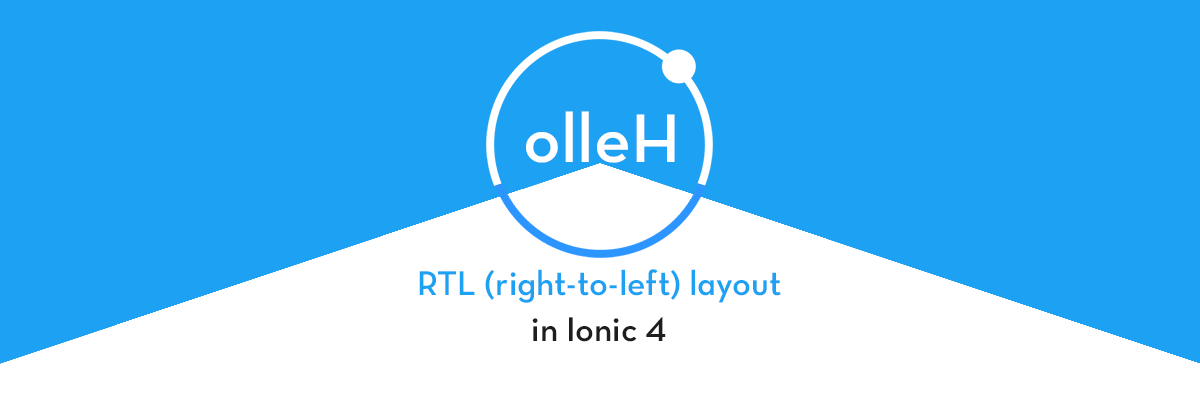 How to use RTL (right-to-left) in Ionic 4